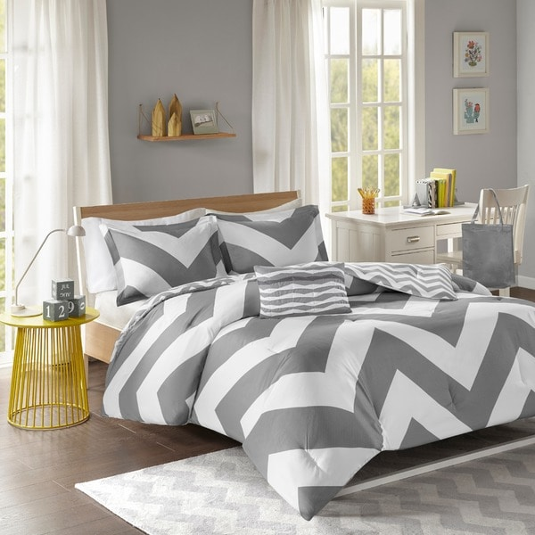 Mi Zone Gemini Reversible Grey Comforter Set. Mi Zone Gemini Reversible Grey Comforter Set   Free Shipping Today