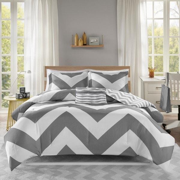 Mi Zone Gemini Reversible Grey Comforter Set