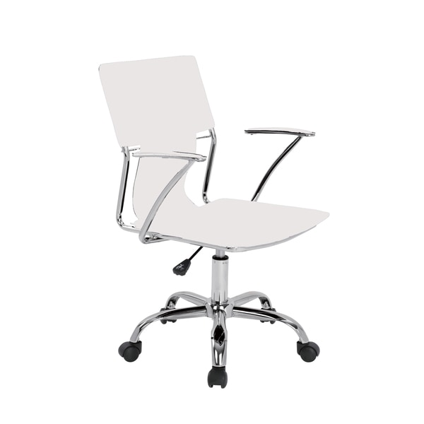 Modrest Emery White Office Desk Chair Free Shipping  : Modrest Emery White Office Desk Chair 0094870f d07a 48f8 b287 b334ac9c6092600 <strong>Girls</strong> Desk Chair from www.overstock.com size 600 x 600 jpeg 14kB
