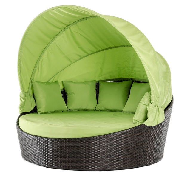 Renava demi lune outdoor green round bed free shipping for Chaise demi lune