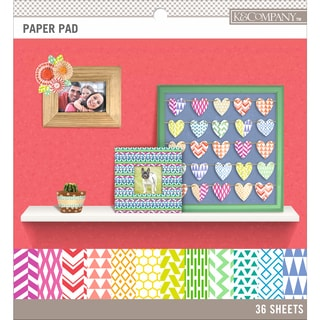 K&Company Basics 8.5inX8.5in Paper Pad 36/PkgBrights, 12 Designs/3 Each