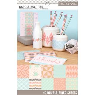 K&Company Basics DoubleSided Card & Mat Pad 40/PkgPastels, 20 Designs/2 Each