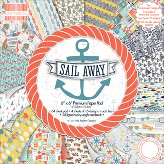 First Edition Premium Paper Pad 6inX6in 64/PkgSail Away