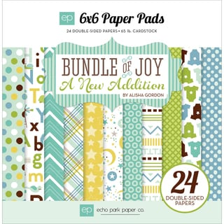 Echo Park DoubleSided Paper Pad 6inX6in 24/PkgBundle Of Joy/A New Addition Baby Boy