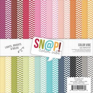 Simple Stories Paper Pad 6inX6in 24/PkgSn@p! Color Vibe II