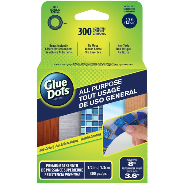 Glue Dots All Purpose Dots300/Roll