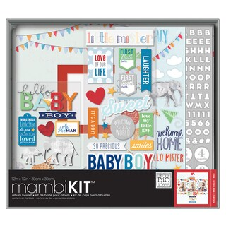 Me & My Big Ideas Boxed Album Kit 12inX12inCool Baby Boy