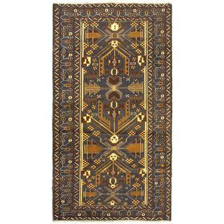 Ecarpetgallery Khandahar Finest Navy Wool Open Field Rectangular Rug (3'6 x 6'3)