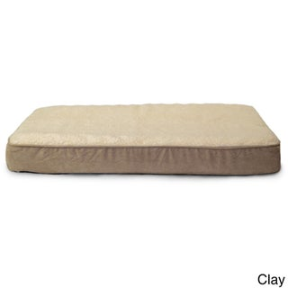 FurHaven Faux Sheepskin & Suede Deluxe Memory Top Pet Bed (More options available)