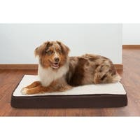 FurHaven Faux Sheepskin & Suede Deluxe Memory Top Pet Bed