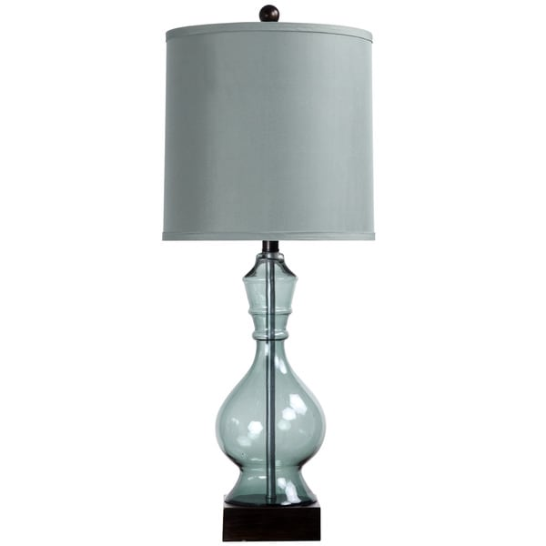 StyleCraft Asteria Blue Glass Table Lamp