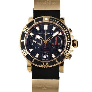 Ulysse Nardin Marine Diver Chronograph 18k Rose Gold Men's Watch