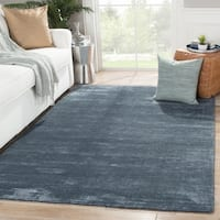 "Phase Handmade Solid Dark Blue Area Rug (8' X 10') - 7'10"" x 9'10"""