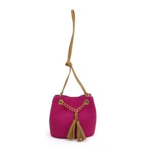 Magid Paper Straw Tassel Mini Tote Shoulderbag