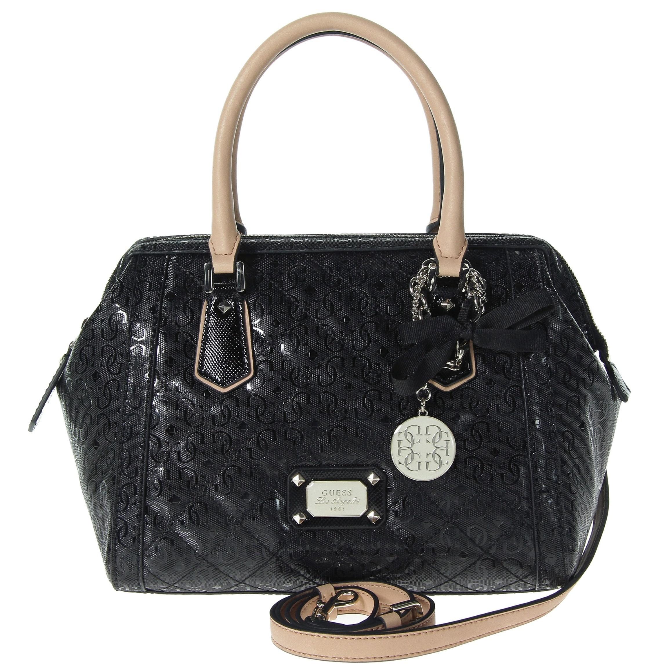 "Guess Women's Juliet Frame Satchel Bag (Black), Size 10"" ..."