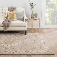 Maison Rouge Laurence Handmade Medallion Gray/ Tan Area Rug - 8' x 10'