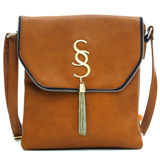 Dasein Gold-Tone Tassel Messenger Bag