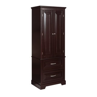 Genevieve 2-door 2-drawer Linen Tower by Elegant Home Fashions