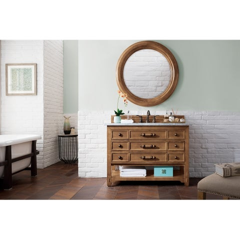 "Malibu 48"" Single Vanity Cabinet, Honey Alder"