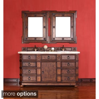 James Martin Antique Brown 60-inch Double Bathroom Vanity