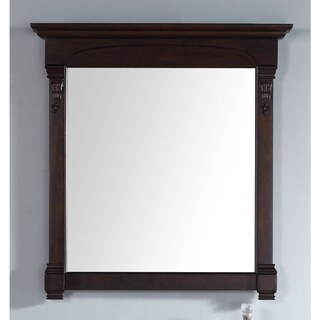 James Martin Brookfield Mahogany 39.5-inch Mirror - burnished mahogany - A/N