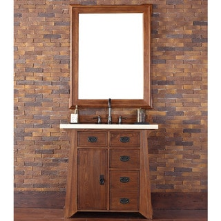 James Martin Oak 35-inch Mirror - Brown - A/N