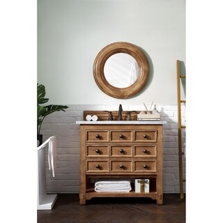 "Malibu 36"" Single Vanity Cabinet, Honey Alder"