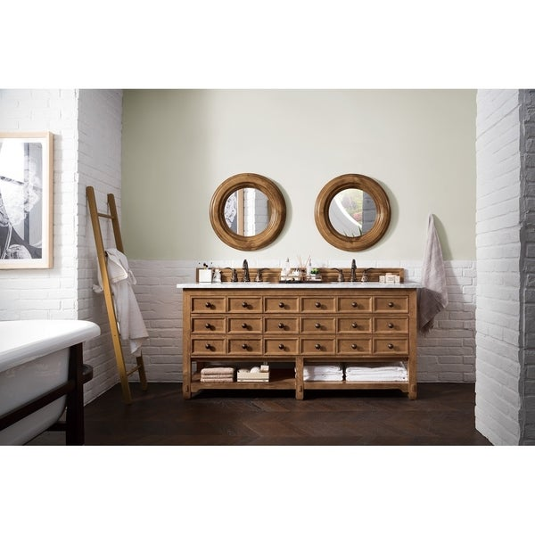"Malibu 72"" Double Vanity Cabinet, Honey Alder"
