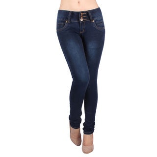 Sexy Couture Women's S50ps Mid Rise Skinny Jeans