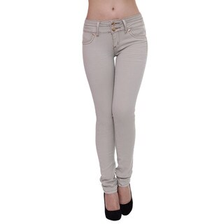 Sexy Couture Women's S59-ps Mid Rise Skinny Jeans