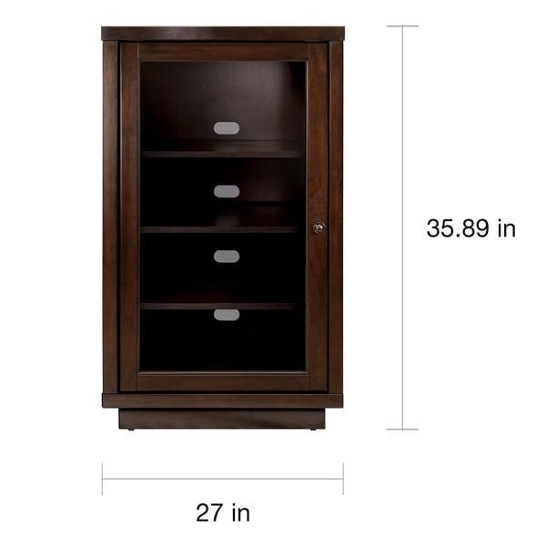 Bell'O AV Component Cabinet with Adjustable Shelves, Dark Espresso