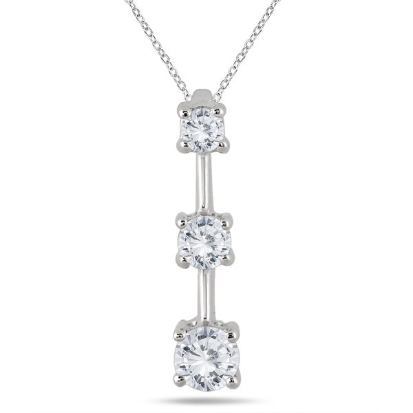 Compare Prices On 1ct Diamond Pendant Online Shopping Buy: Shop Marquee Jewels 14k White Gold 1ct TDW Diamond