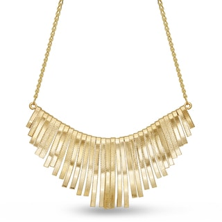 Gold Over Brass Strand Bib Necklace