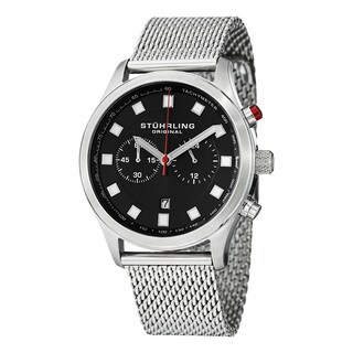 Stuhrling Original Men's Victory Elite Quartz Chronograph Stainless Steel Mesh Bracelet Watch