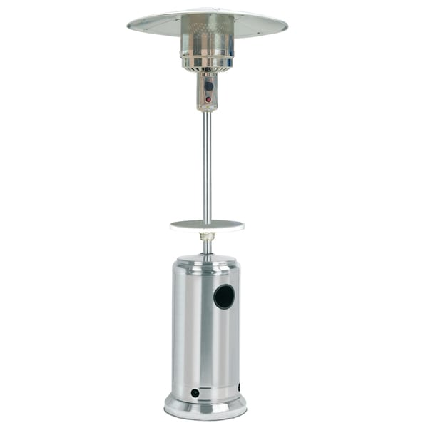 Sunheat Clic Umbrella Portable Propane Patio Heater Stainless Steel With Drink Table