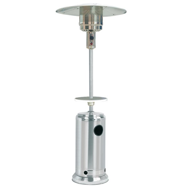 SUNHEAT Classic Umbrella Portable Propane Patio Heater Stainless Steel with  Drink Table - Shop SUNHEAT Classic Umbrella Portable Propane Patio Heater
