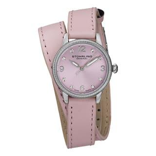 Stuhrling Original Women's Vogue Swiss Quartz Austrian Crystal Double Wrap Leather Strap Watch|https://ak1.ostkcdn.com/images/products/10180274/P17306925.jpg?impolicy=medium