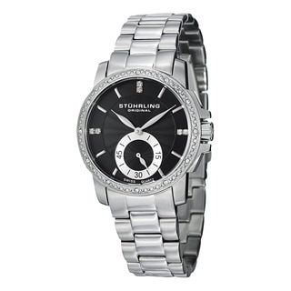 Stuhrling Original Women's Lady Regency Swiss Quartz Austrian Crystal Stainless Steel Bracelet Watc
