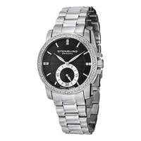 Stuhrling Original Women's Lady Regency Swiss Quartz Austrian Crystal Stainless Steel Bracelet Watc - silver