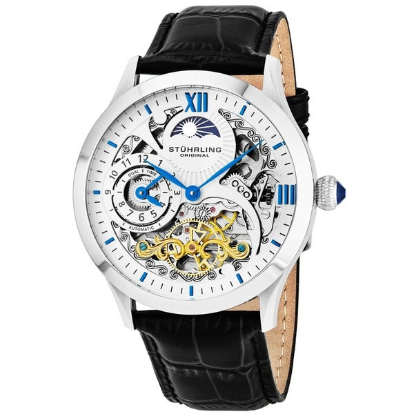 Stuhrling Original Men's Special Reserve Automatic Leather Strap Watch