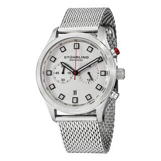 Stuhrling Original Men's Victory Elite Quartz Chronograph Stainless Steel Mesh Bracelet Watch