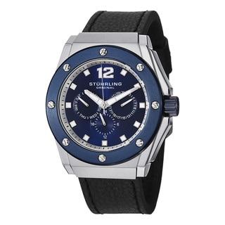 Stuhrling Original Men's Midnight Apocalypse Quartz Leather Strap Watch