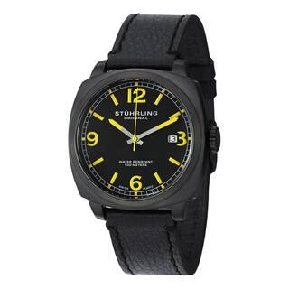 Stuhrling Original Men's Eagle Square Swiss Quartz Leather Strap Watch|https://ak1.ostkcdn.com/images/products/10180311/P17306960.jpg?impolicy=medium
