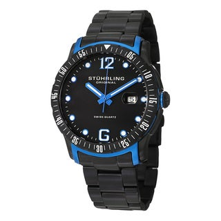 Stuhrling Original Men's Trofeo Swiss Quartz Stainless Steel Bracelet Watch