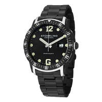 Stuhrling Original Men's Trofeo Swiss Quartz Stainless Steel Bracelet Watch - Black