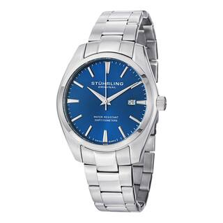 Stuhrling Original Men's Ascot Prime Swiss Quartz Stainless Steel Bracelet Watch|https://ak1.ostkcdn.com/images/products/10180326/P17306974.jpg?impolicy=medium
