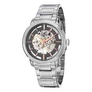 Stuhrling Original Men's Winchester Pro Mechanical Stainless Steel Bracelet Watch - silver