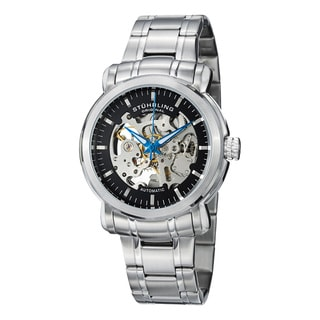 Stuhrling Original Men's Delphi Antium Automatic Stainless Steel Bracelet Watch