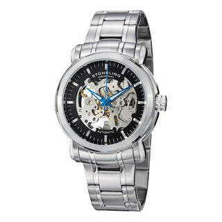 Stuhrling Original Men's Delphi Antium Automatic Stainless Steel Bracelet Watch - silver