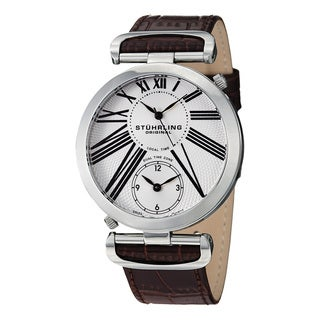 Stuhrling Original Men's Eclipse Classic Swiss Quartz Leather Strap Watch